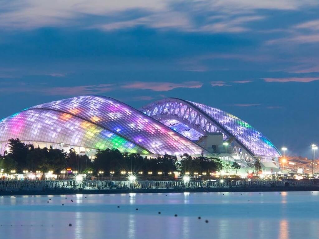Стадион фишт в Сочи - одна из лучших спортивных арен в России!