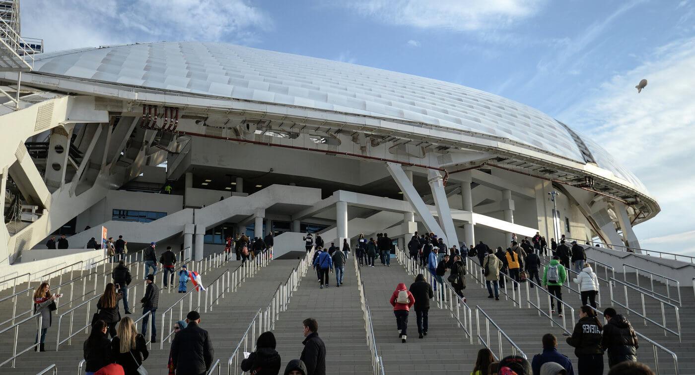 Вход на стадион Фишт